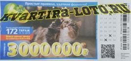 Проверить билет Лотерея 6 из 36 172 тираж